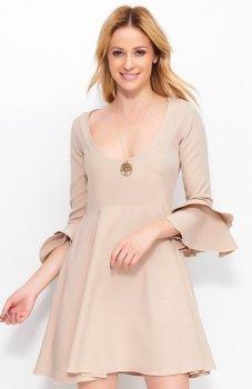 Makadamia M393 sukienka beżowa