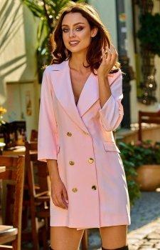 Garniturowa sukienka różowa L278