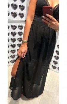 Długa spódnica z tiulem czarna
