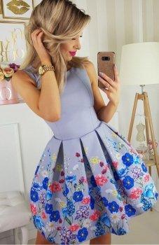 Bicotone 2200-03 sukienka szara