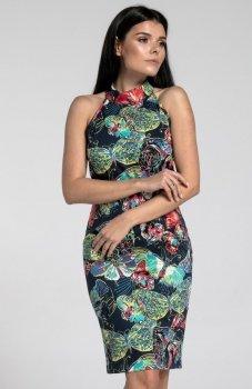 Nommo NA285 sukienka ciemne motyle