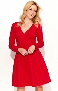 *Makadamia M374 sukienka czerwona