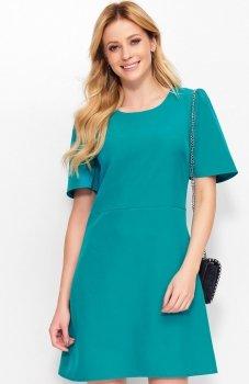 *Makadamia M378 sukienka zielona