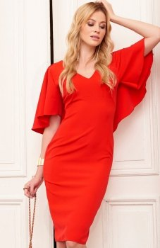 Makadamia M389 sukienka czerwona