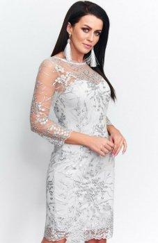 Roco 199 sukienka koronkowa szara