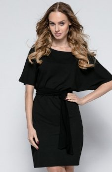 *FIMFI I246 sukienka czarna