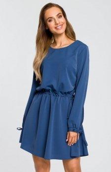 Moe M426 sukienka niebieska