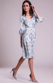 Modna sukienka w kwiaty 0244 S10