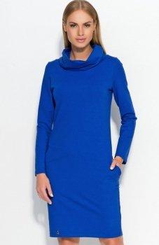 Makadamia M331 sukienka chabrowa