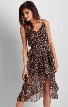Szyfonowa sukienka w panterkę Ariana