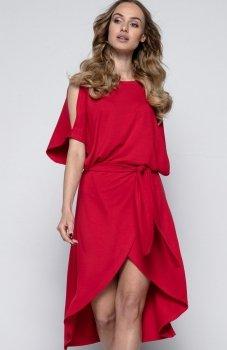 FIMFI I248 sukienka czerwony
