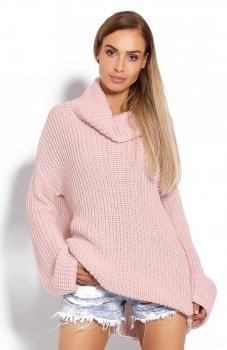 PeekaBoo 70012 gruby sweter golf różowy