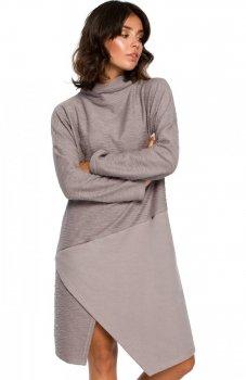 BE B098 sukienka szara
