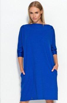 Makadamia M317 sukienka chabrowa