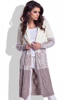 Fobya F337 ombre sweter ecru