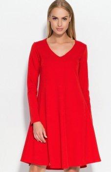 Makadamia M326 sukienka czerwona