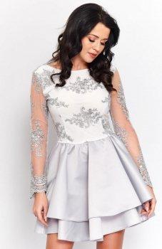 Roco 0186 sukienka szara