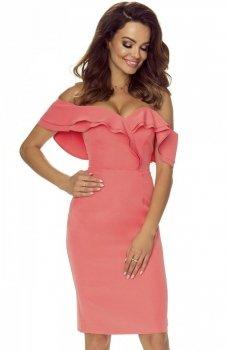 Bergamo Cleo sukienka łososiowa