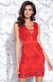 Bicotone 2163-02 sukienka czerwona
