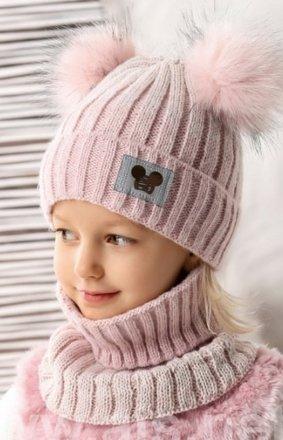 AJS czapka i golf dla dziewczynki