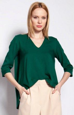 Bluzka z dłuższym tyłem zielona BLU146