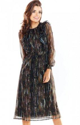 Zwiewna szyfonowa sukienka Awama A314/WZ3