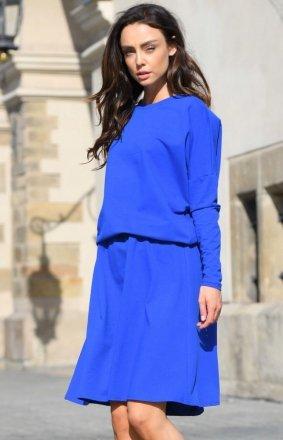 Bawełniana sukienka chabrowa L347