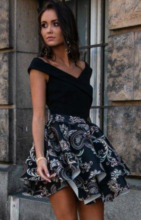 Wieczorowa sukienka z podwójną falbaną 253/P01