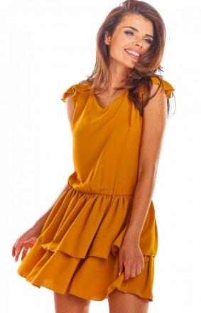 Rozkloszowana mini sukienka A291