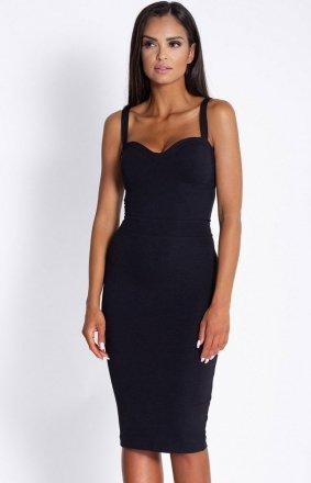 Seksowna dopasowana sukienka Rocco czarna