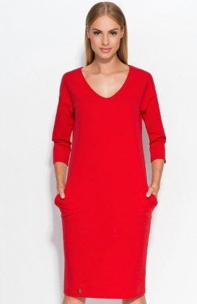 Makadamia M318 sukienka czerwona