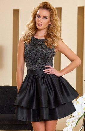 Roco 0173 sukienka szaro-czarna