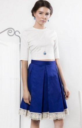 Kasia Miciak design szafirowa spódnica