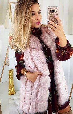 *Futrzana kamizelka Lola różowa