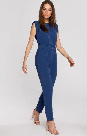 Elegancki kombinezon z poduszkami niebieski S259