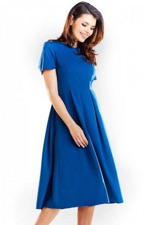 Sukienka niebieska Awama A253