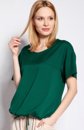 Bluzka z krótkim rękawem zielona BLU144