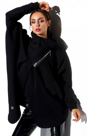 Oversizowa bluza na zamek czarna LN100