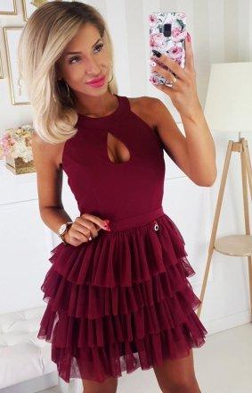 Efektowna sukienka z falbankami 2188-10
