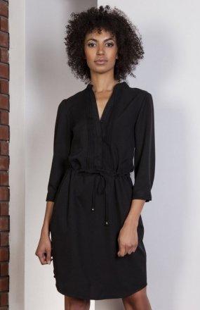Sukienka ze szczypankami czarna SUK149
