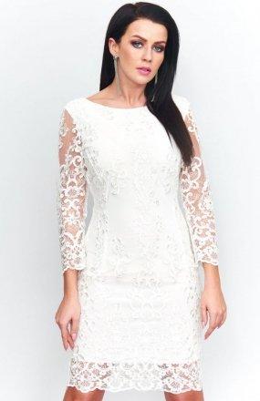Roco 0122 sukienka biała