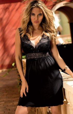 Dkaren Belinda koszulka nocna czarna