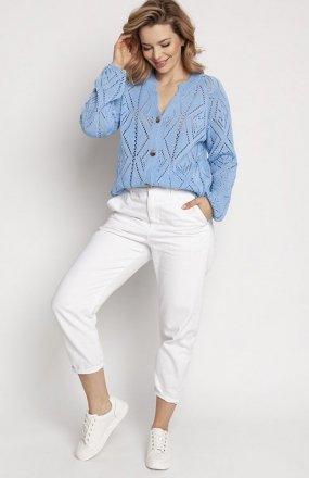 MKM SWE233 rozpinany sweter niebieski