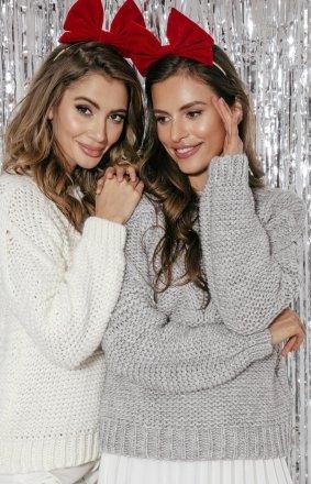 Ciepły sweter damski F861