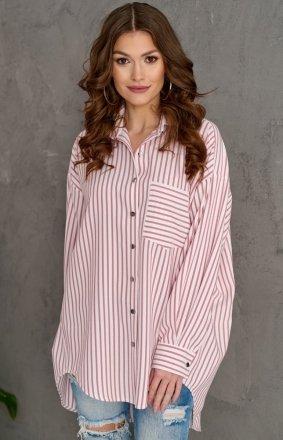 Oversizowa koszula w paski 0104 C2C