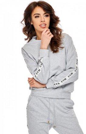 Bawełniana bluza damska szara OLL67