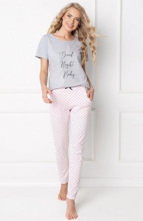 Aruelle Grace Long Grey-Pink piżama