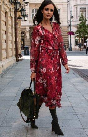 Sukienka midi w kwiaty 0241/D53