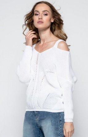 FIMFI I241 sweter biały