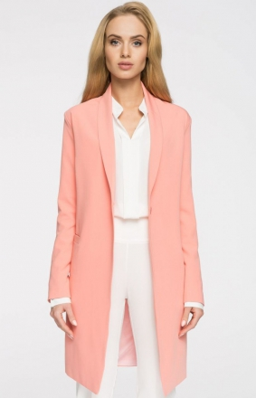 Style S071 płaszcz blazer łososiowy